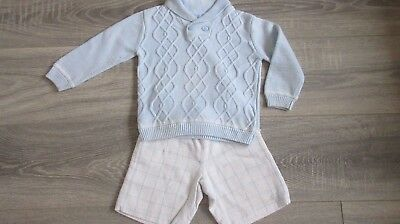 Tutto Piccolo Boys jumper and winter shorts set - age 2-3 years