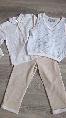 Tutto Piccolo Boys stone and pale blue 3 piece set - age 3 years