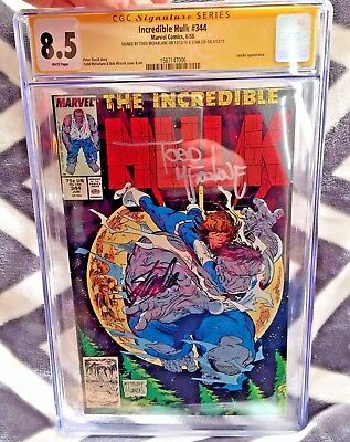 Hulk #344 Cgc 8.5 Ss 2X Signed Stan Lee & Todd Mcfarlane Marvel Comic Leader App