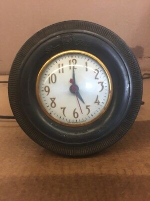 Vintage Tire Clock Super Chief The Mohawk Rubber Tire Co. Advertising Lot#1