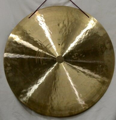 "Wind Gong 25"" 7kg Meditation Yoga Chakra Music Therapy Hand Made Nepal"