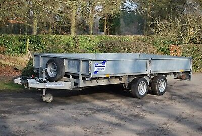 "Ifor Williams LM146 14ft x 6ft 6"" Flatbed (3500kg) Twin axle Trailer"
