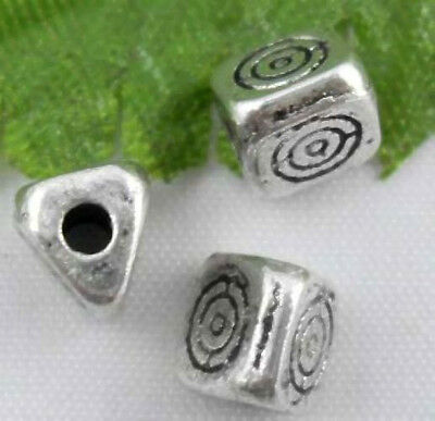 Free Ship 50Pcs Tibetan Silver 3-Sides Spacers Beads Findings 5.5mm
