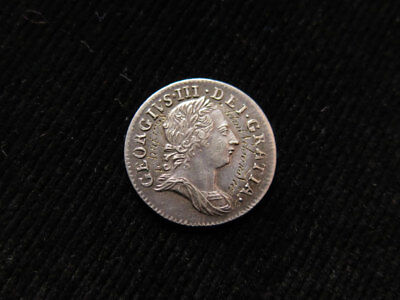 Adm'l Nelson's Vict 1 Aug 1798 Engraved George III Silver Maundy Threepence 1762