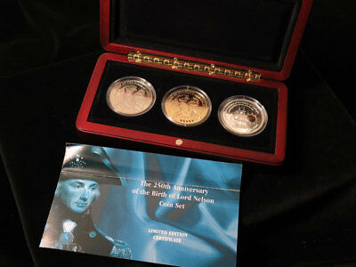 The 250th Anniversary of the Birth of Lord Nelson Coin Set (London Mint Office)