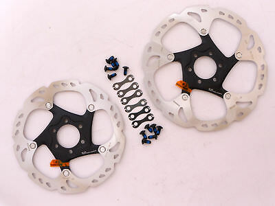 SHIMANO Deore XT SM-RT86 Disc Brake Rotor 6 Bolts 160+180mm Ice Technology 2pcs