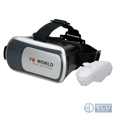 VR Brille 3D Virtual Reality mit Bluetooth Controller für Iphone Android PC Game
