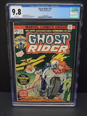 Marvel Comics Ghost Rider #12 1975 Cgc 9.8 White Pages Gil Kane Cover