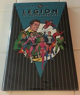 DC Archive Editions Legion Of Super-Heroes Volume 9 HC Hardcover Superman JLA