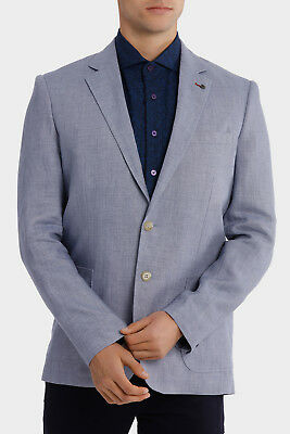 NEW Jeff Banks Cotton Linen Blazer Pale Blue