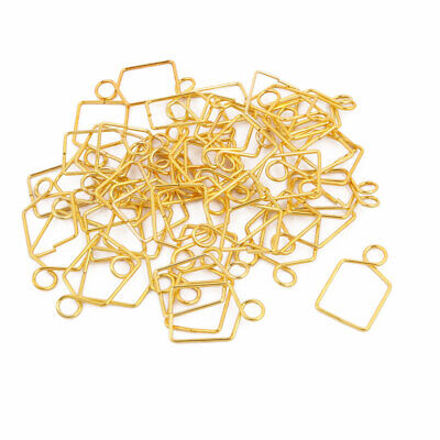 50Pcs 12mm Width Gold Tone Chandelier Connector Clip for Fastening Crystal