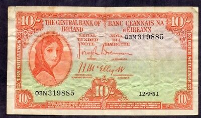10 Shillings From Ireland 1951 Payable In London