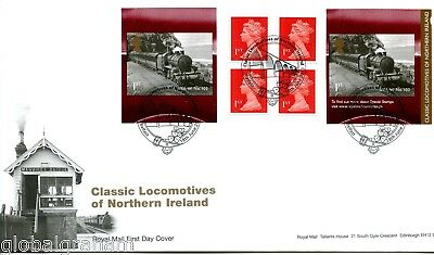 2013 N.ireland Locos Great Britain Self Adhesive Retail Booklet Royal Mail Fdc