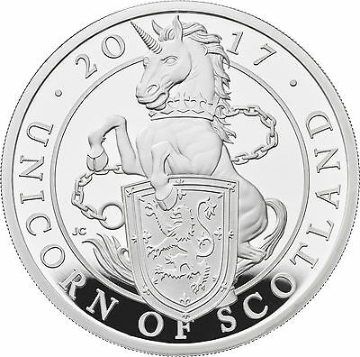 1 Ounce Silver Proof Queens Beasts Unicorn of Scotland 2 £ UK 2017 Royal silber