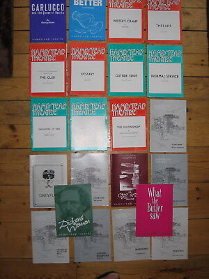Hampstead Theatre programmes one lot of 22 late 70's early 80's  few early 90's