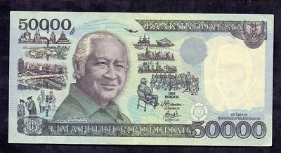 50000 Rupiah From Indonesia 1995 XF+