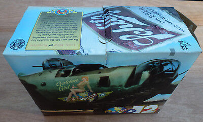 Schlitz 50th ANNIVERSARY 1945 - 1995 WWII REPLICA Beer Can 12 Pack Box vintage