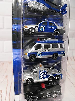 Toy Police Car Emergency Vehicle Diecast Police Car Helicopter Van Play Set