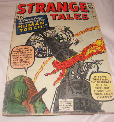 Strange Tales #101 Comic Human Torch Begins by Kirby