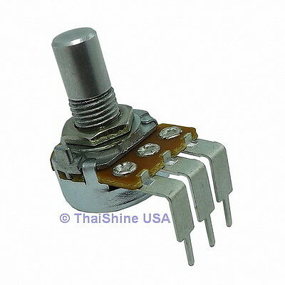 2 x 1K OHM Linear Taper Potentiometer Round Shaft PC Mount USA Seller Free Ship