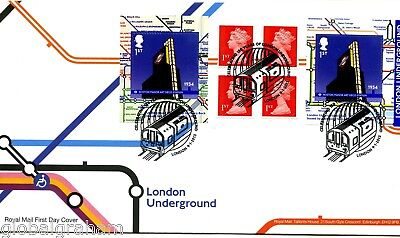 2013 Underground Rail Great Britain Self Adhesive Retail Booklet Royal Mail Fdc