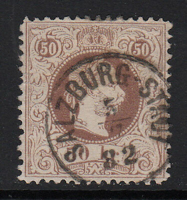 Austria 1874 Issue #40b (perf 12)   Used  CV $190.00  RARE!