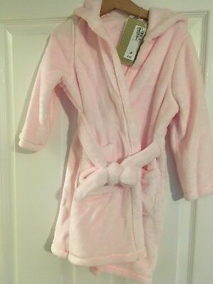 BNWT M&S Girls Dressing Gown Age 3-4 Years.
