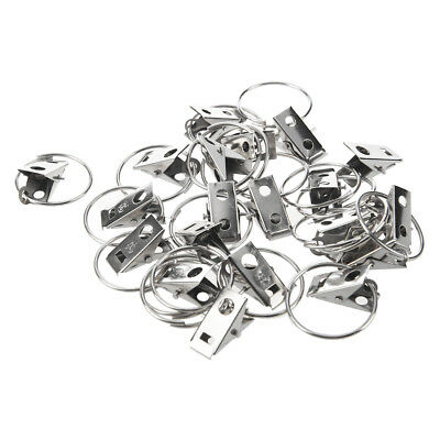 20pcs Curtain Rod Clip Rings Drapery Clips N5A9 S5P1