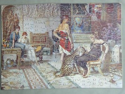 Chad Valley Vintage Wood Jigsaw - A Present From Caesar - Illustrated Newspapers