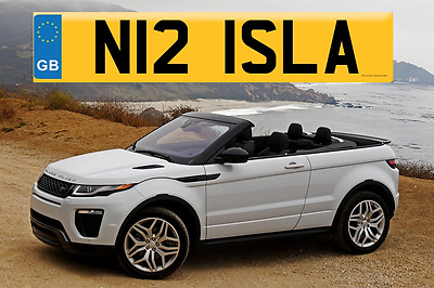 ISLA Private Registration Plate  -   ALL  FEES ARE PAID -