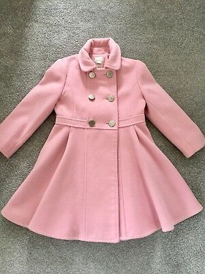 Monsoon Natalia Saskia Pink Military Coat, Age 5-6, Ex Condition