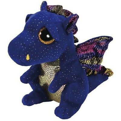 "TY Beanie Boo 6"" Plush - Saffire Dragon - Brand New"