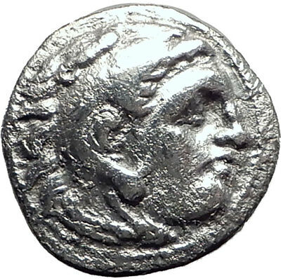 ALEXANDER III the GREAT 323BC Authentic Ancient Silver Greek Coin w Zeus i64684