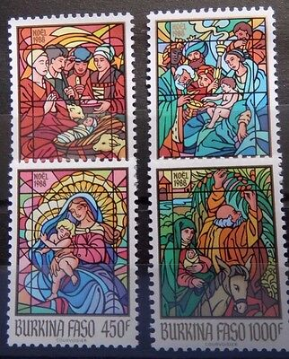 Burkina Faso 1988 Stained Glass Windows Set. MNH.