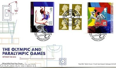 2011 Olympic Games Great Britain Self Adhesive Retail Booklet Royal Mail  Fdc