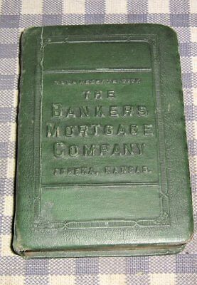 Vintage Coin Book Bank,Safe,The Bankers Mortgage Company,Topeka,Kansas,1923