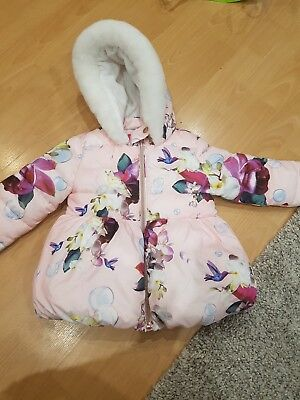 Girls ted Baker coat 3-4