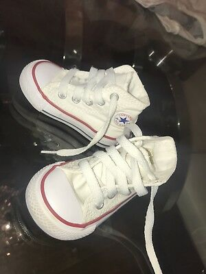 White Kids Converse Boots UK Infant Size 3