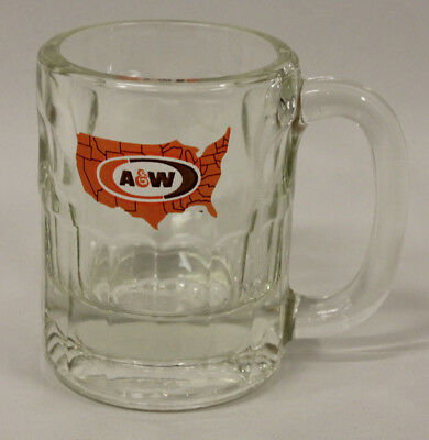 A & W Glass Mug, Vintage, Heavy!
