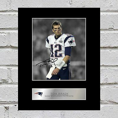 Tom Brady Signed Mounted Photo Display New England Patriots