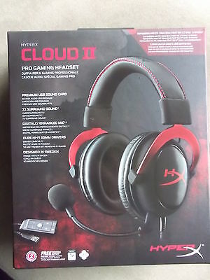 Kingston Hyperx Cloud II 7.1 surround sound gaming headset. New, open box.