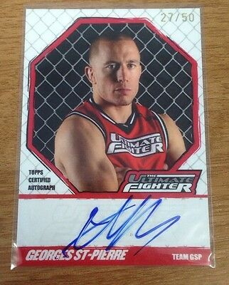 2010 Topps Georges St-Pierre The Ultimate Fighter Coach Auto 27/50! Rare