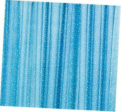 blue with white stars gossamer roll 100 ft x 3 ft wedding aisle decoration table