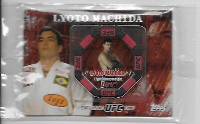 LYOTO MACHIDA '10 Topps UFC POKER CHIP #18 Gem Mint ORIGINAL FACTORY PACKAGE HOF
