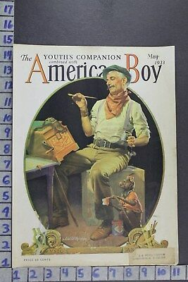 1933 Music Hurdy Gurdy Monkey Man Wilkinson Accordion Vintage Cover Cov355