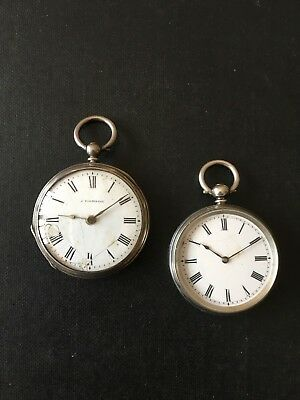 Two Antique Silver Fob Watches