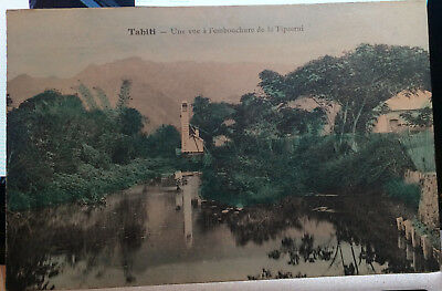 Tipaerui, French Polynesia, TAHITI, Hand Colored Post Card, PRE 1908