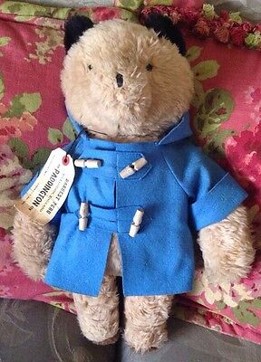 "Vintage Eden Paddington Bear Plush Brown 17"" Missing Hat & Boots"