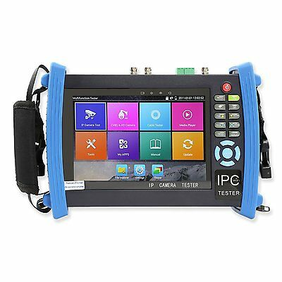 7 Inch Touch Screen IP Camera Tester CCTV Tester Analog Tester with HD-TVI/HD-CV