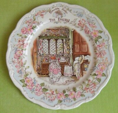 Royal Doulton - Brambly Hedge Plate - THE DAIRY - Jill Barklem 1984 - EX. CON.